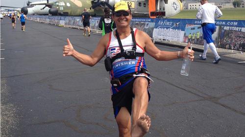 アメリカ全50州で裸足マラソン完走!
