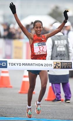ディババが東京マラソン優勝!