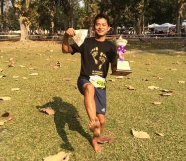 チェンマイ大学マラソンで、初の賞金ゲット!