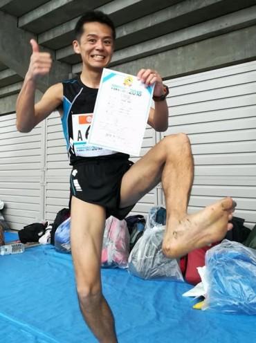 裸足フルマラソンの日本記録が更新されました!!!