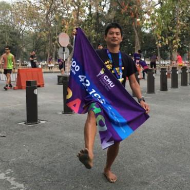 CMUマラソンをYOSHIPORFLY0%で走り3位入賞!